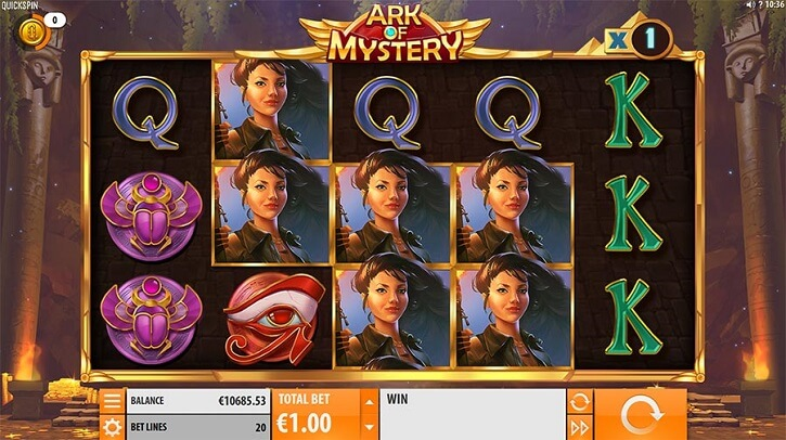 ark of mystery slot screen
