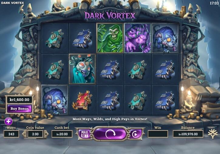 dark vortex slot screen