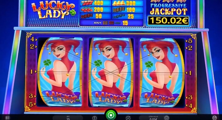 lucky lady slot screen