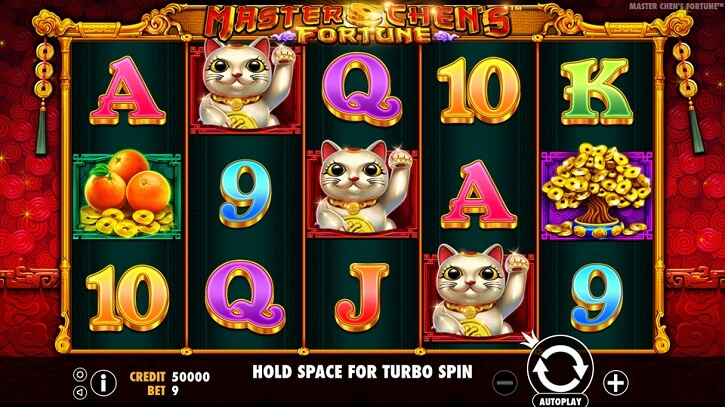 master chens fortune slot screen