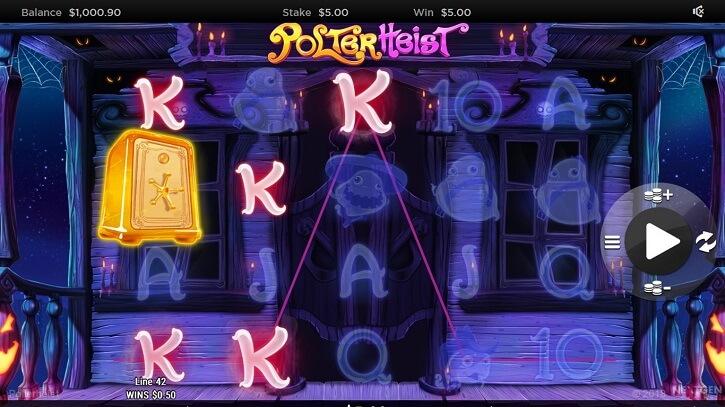 polterheist slot screen