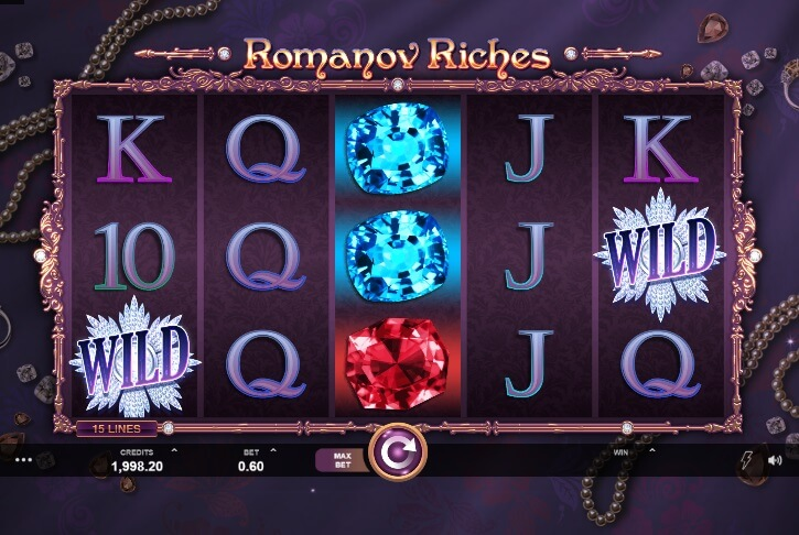 romanov riches slot screen