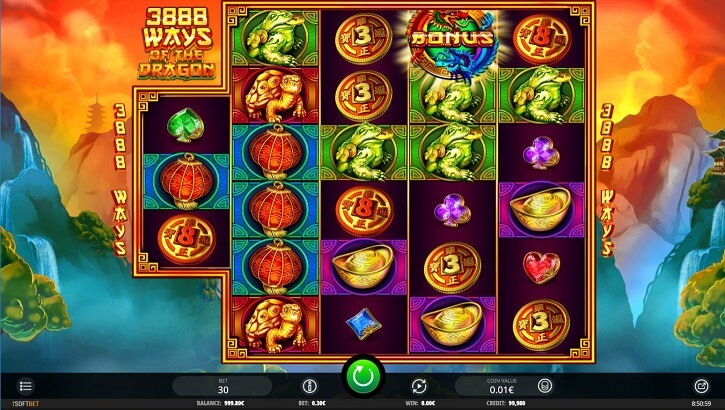 3888 ways dragon slot screen