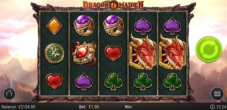 dragon maiden slot screen
