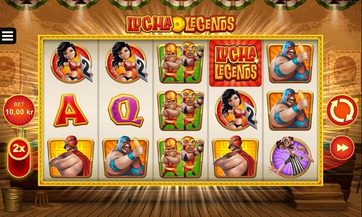 lucha legends slot screen
