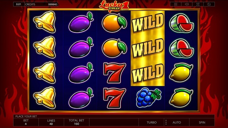 lucky streak 1 slot screen