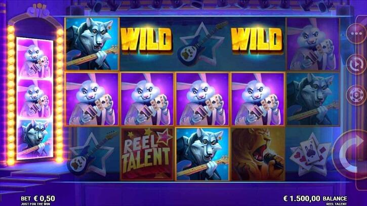 reel talent slot screen