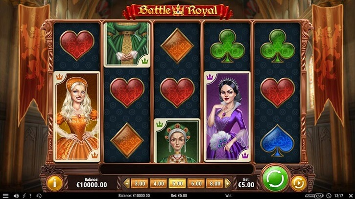 battle royal slot screen