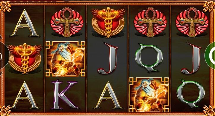 journey of the gods slot screen