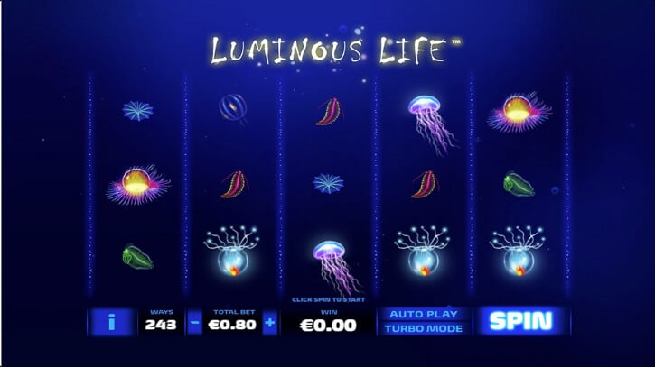 luminous life slot screen