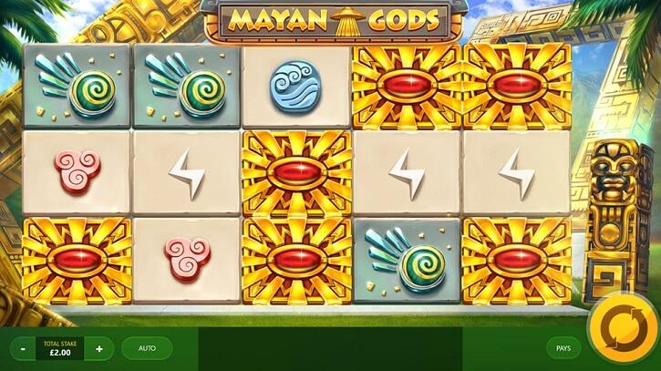 mayan gods slot screen