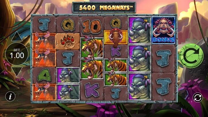 primal megaways slot screen