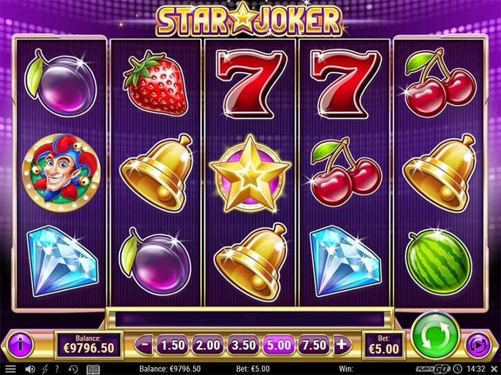 star joker slot screen