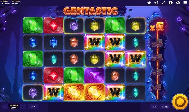 gemtastic slot screen