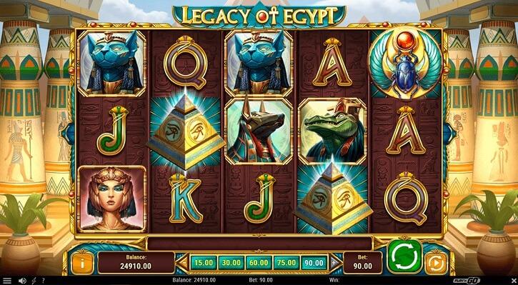 legacy of egypt slot screen