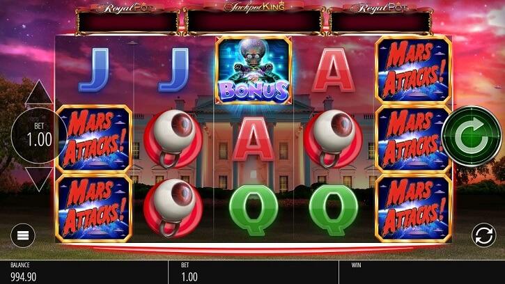 mars attacks slot screen