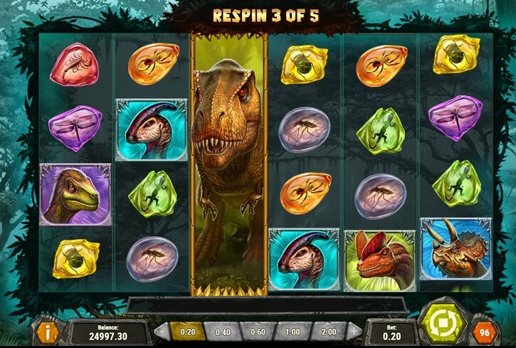 raging rex slot screen