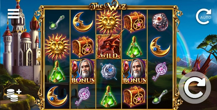 the wiz slot screen
