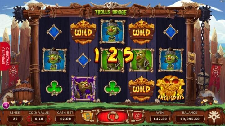 trolls bridge slot screen