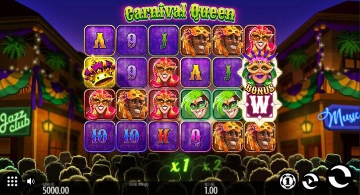 carnival queen slot screen