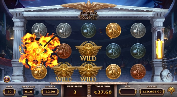 champions of rome slot freespins