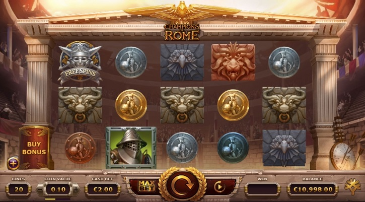 champions of rome slot screen
