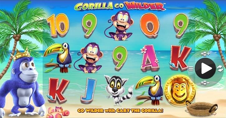gorilla go wilder slot screen