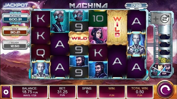 machina megaways slot screen