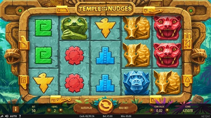 temple of nudges slot screen