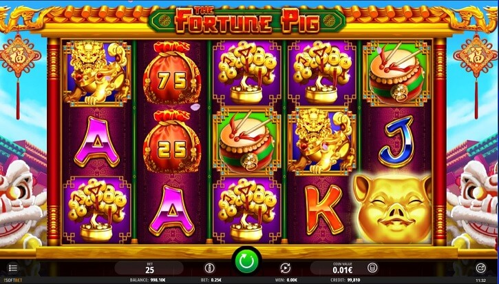 the fortune pig slot screen