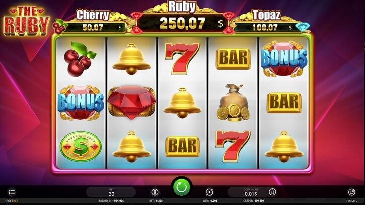 the ruby slot screen