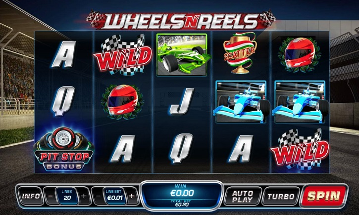 wheels n reels slot screen