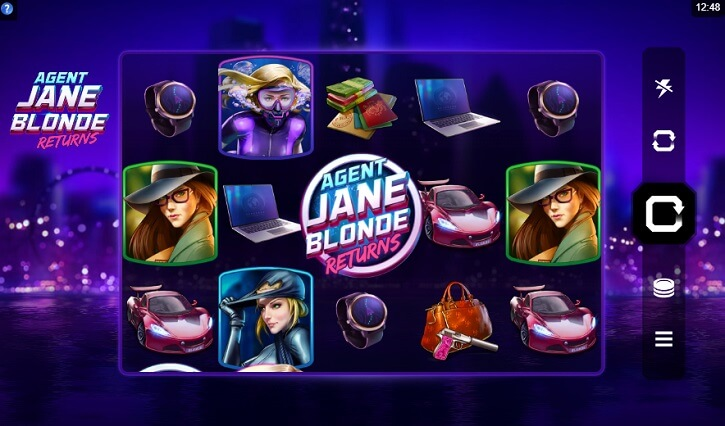 agent jane blonde returns slot review