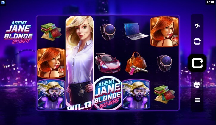 agent jane blonde returns slot screen