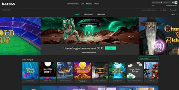bet365 kasiino website screen