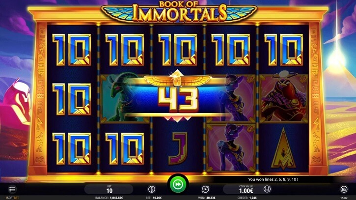 book of immortals slot freespins