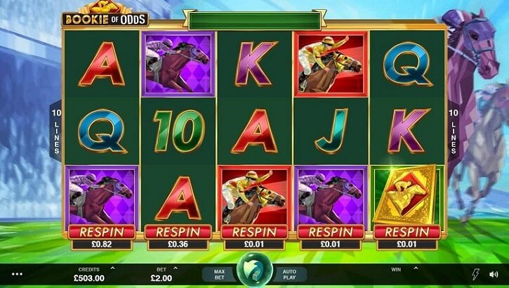 bookie of odds slot freespins