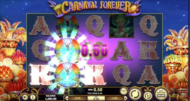carnaval forever slot freespins