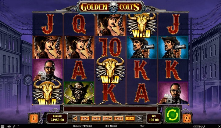 golden colts slot screen