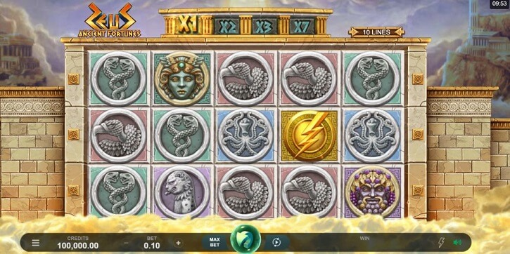 ancient fortunes zeus slot review
