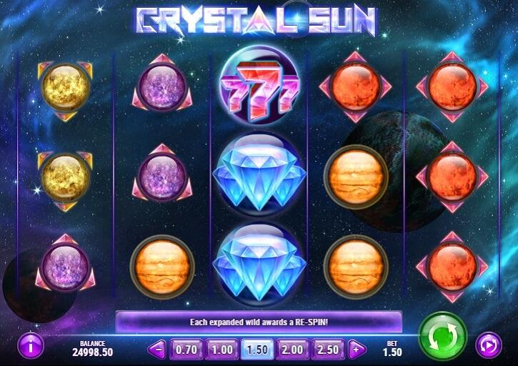 crystal sun slot screen