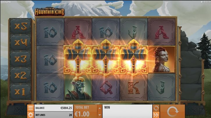 hall of the mountain king slot screen