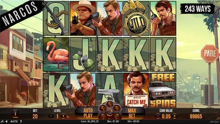 narcos slot screen