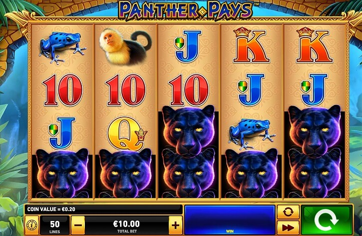 panther pays slot screen