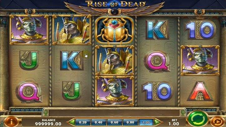 rise of dead slot screen