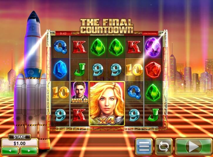 the final countdown slot screen
