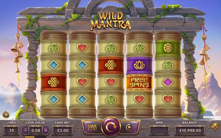 wild mantra slot screen