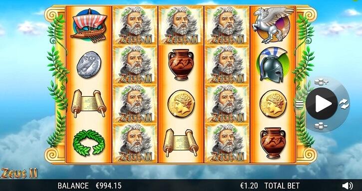 zeus2 slot screen