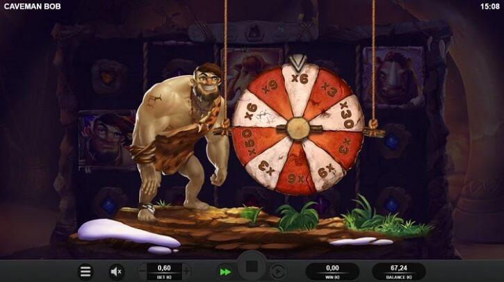 caveman bob slot wheel bonus