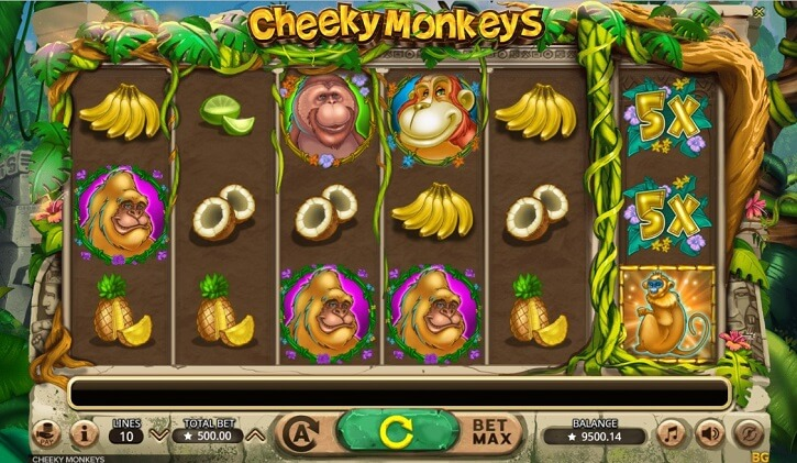 cheeky monkeys slot screen
